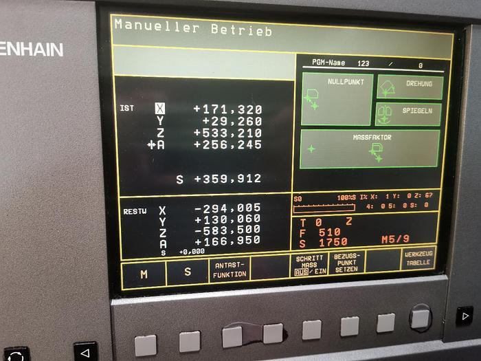 2001 CNC Bearbeitungszentrum KUNZMANN BA 600
