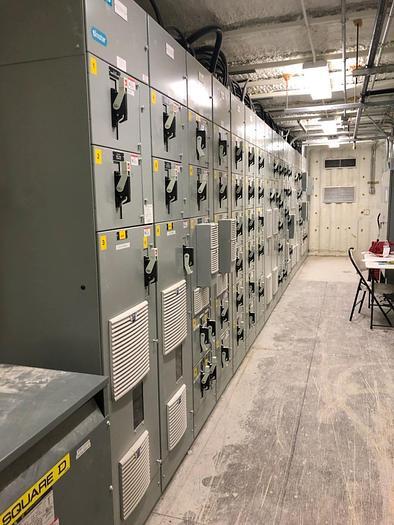 Used 2014 Siemens 1600 amp mcc Tiastar motor control center, 1600 amp MCC Integrated Cubicle BUS, installed HVAC in Falcon contianer Tiastar 1600 amp