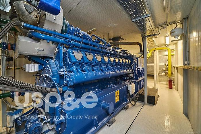 Used 6 MW 2014 Used MWM TCG2020V20 Natural Gas Generator