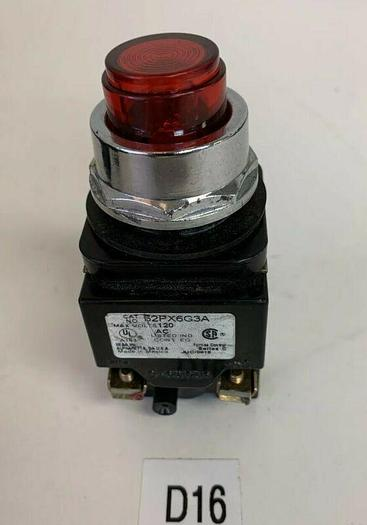 Used Siemens 52PX6G3A Pilot Light, Red (Not A Push Button) Fast Shipping
