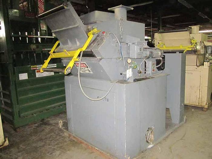 Used 75 HP NELMOR GRANULATOR MDL G1436MB WITH FEED ROLLS