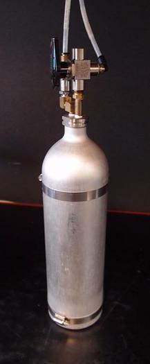 Used Aluminum Vacuum Reservoir Tank  Canister w/ T-Valve (3540)