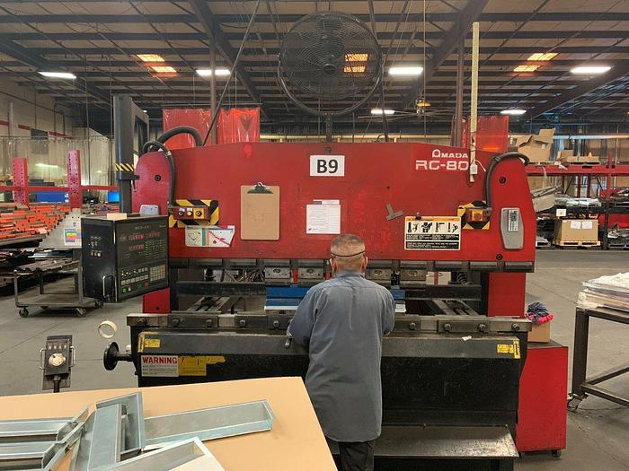 Used 1997 88 Ton Amada RG-80 CNC Press Brake