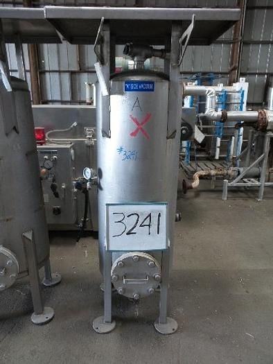 Used 75 Gallon Stainless Steel Vacuum Tank #3241