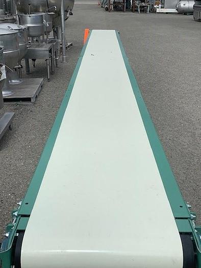 "20' Long x 18""Wide Roach MFG Portable Sanitary Flat Belt Conveyor"