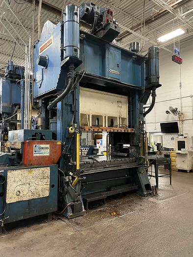 """Used 300 ton Minster 84""""x48""""  SSDC Stamping Press"""