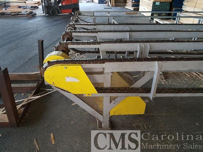 Used Custom Built Green Chain Lumber Deck