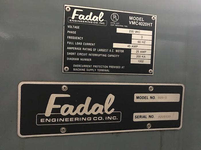 1990 FADAL VMC 4020HT, Extended Z, 88HS Control - Video