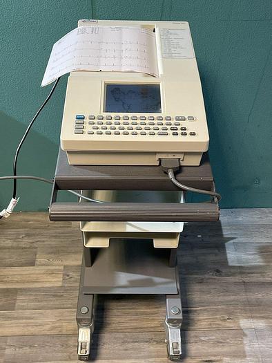Gebraucht Spacelabs Burdick Eclipse 850 EKG Gerät auf Trolley mit EKG Kabel