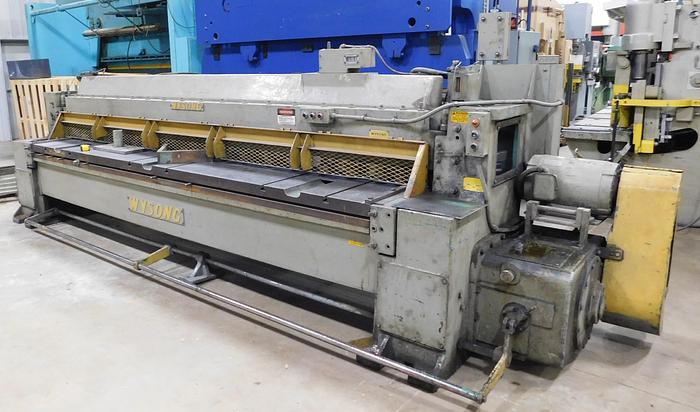 Used Wysong 12' x 10ga Mechanical Plate Shear