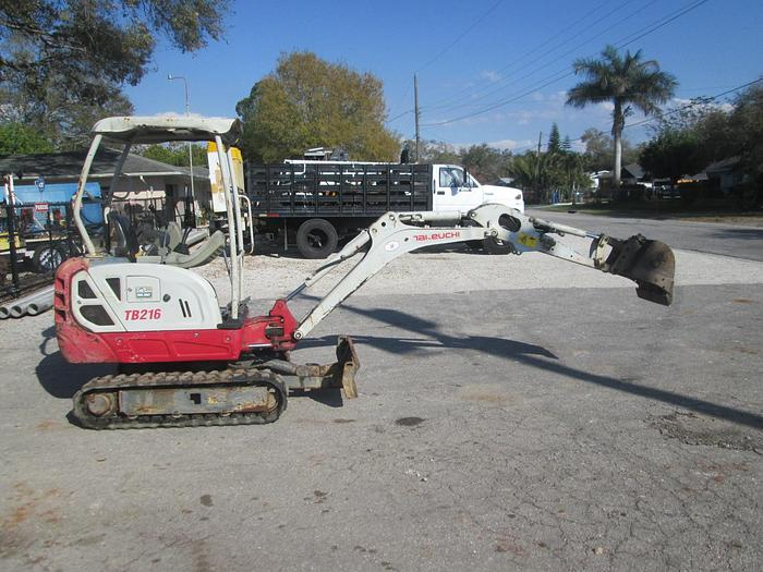 Used Takeuchi TB216 Mini Excavator