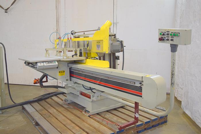 Used Wisconsin single end tenoner, Automatic double head shaper