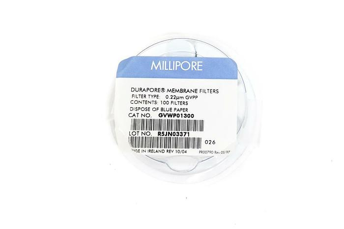 Used Millipore GVWP01300 Durapore Membrane Filters 13mm 600 Filters (5269)