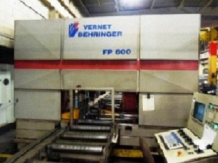 Used 2000 Vernet Behringer FP600 3 Head CNC Drill | 43' Infeed, 40' Front Conveyor