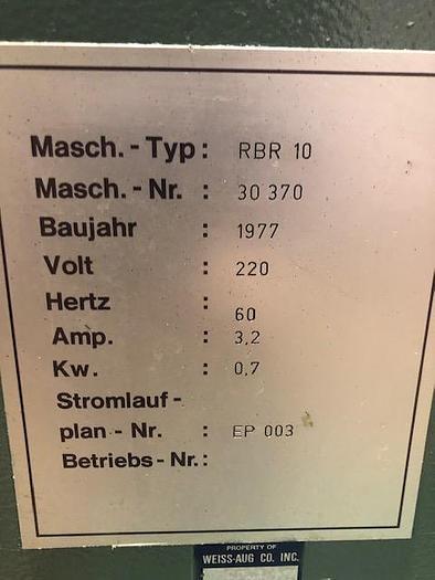 "4.7"" x 0.04"", RASTER, No. RBR10, 1970 PARTS STRAIGHTENER"