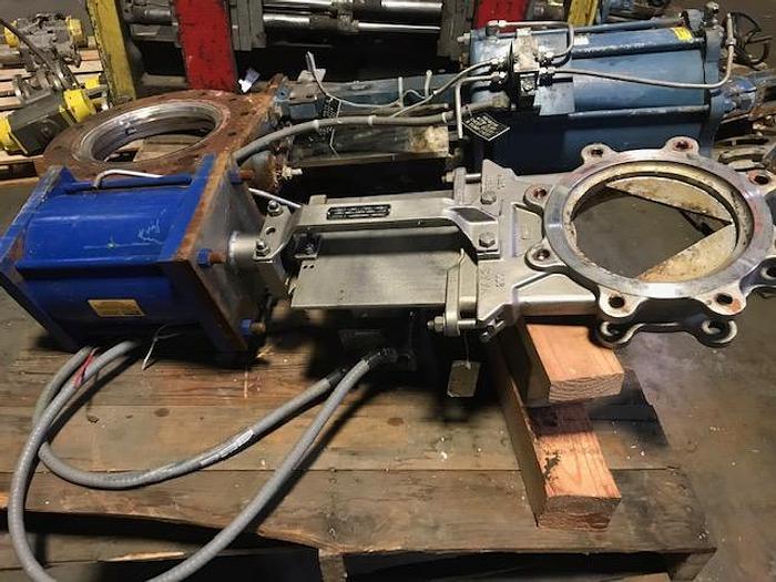 """Used FNW MODEL 6500SK 6"""" PNEUMATIC SLIDE GATE  VALVE S/S"""