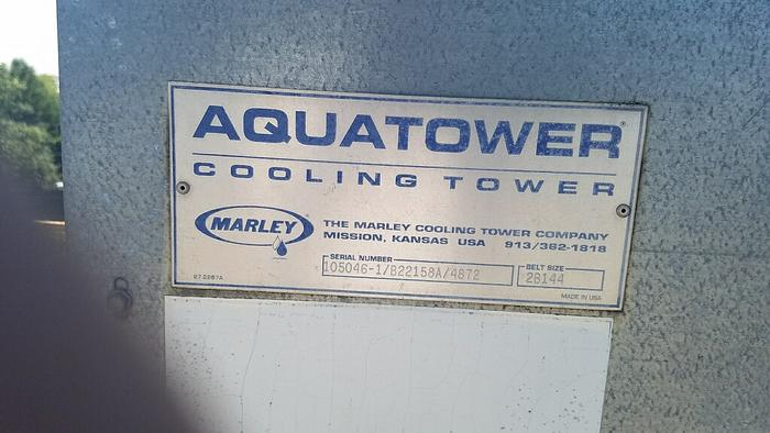 4 Marley Cooling Towers4 Marley Cooling Towers  Aquatower Cooling Tower Serial Number:  105046-1/822158A/4872 Belt Size:  28144