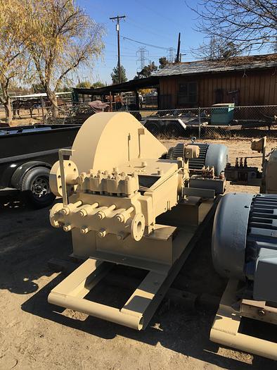 Used Ingersoll-Rand  Type 4HS 3 Horizontal Triplex Plunger Pump