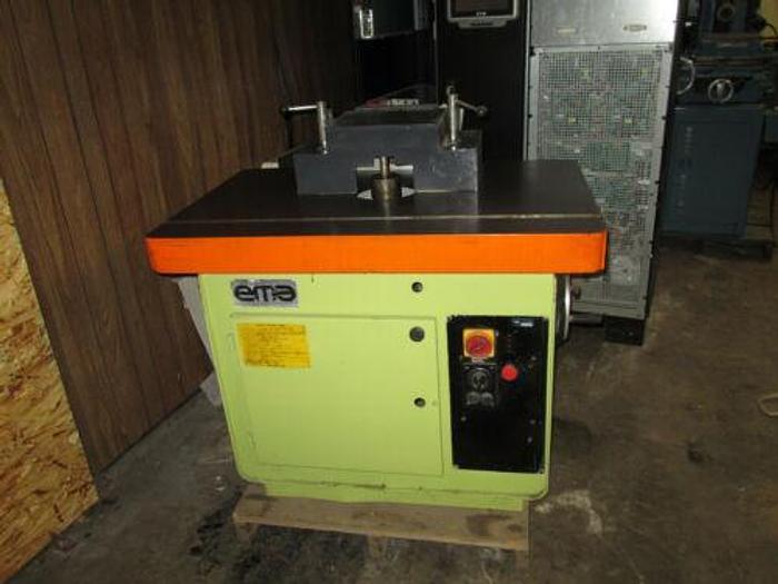 Used EMA Shaper & 4 Wheel Feeder; Model #: FV-110 EMA Shaper & 4 Wheel Feeder; Mod...