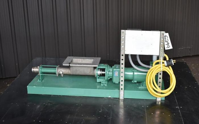 USED NETZSCH NEMO PROGRESSING CAVITY PUMP, STAINLESS STEEL, WITH VARIABLE FREQUENCY DRIVE