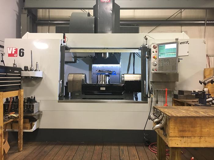 Used 2014 Haas VF6/50 Vertical Machining Center with Trunnion Rotary Table