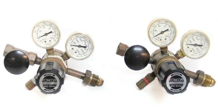 Used Concoa 400 Series 412-2331 Dual Gauge Regulator Male 315 LOT of 2  (5522)