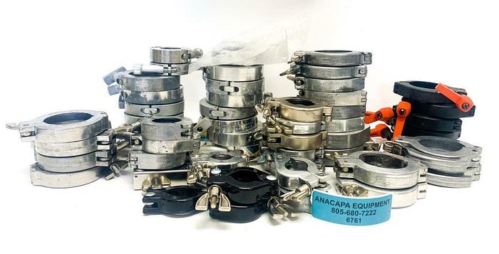 Used A&N Corporation, Nor-Cal Products, HPS, Clamps Various Sizes Lot of 52 (6761)W