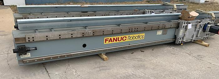 "2007 FANUC M710iC/70T GANTRY ROBOTIC SYSTEM, R30iA, 8' TALL RAIL X 11'6"" OF TRAVEL"