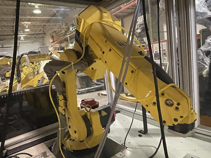 Used FANUC M10iA/10S 10KG X 1098MM H-REACH 6 AXIS ROBOTIC CELL WITH R30iA CONTROLLER