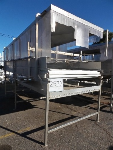 AG Design 6' wide x 17' long AG-Design Roller Belt Conveyor Washer #2532