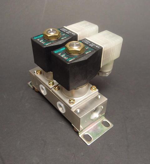 CKD GAB312-3 Solenoid Valve 145 psi 110V Lot of 2 (3885)