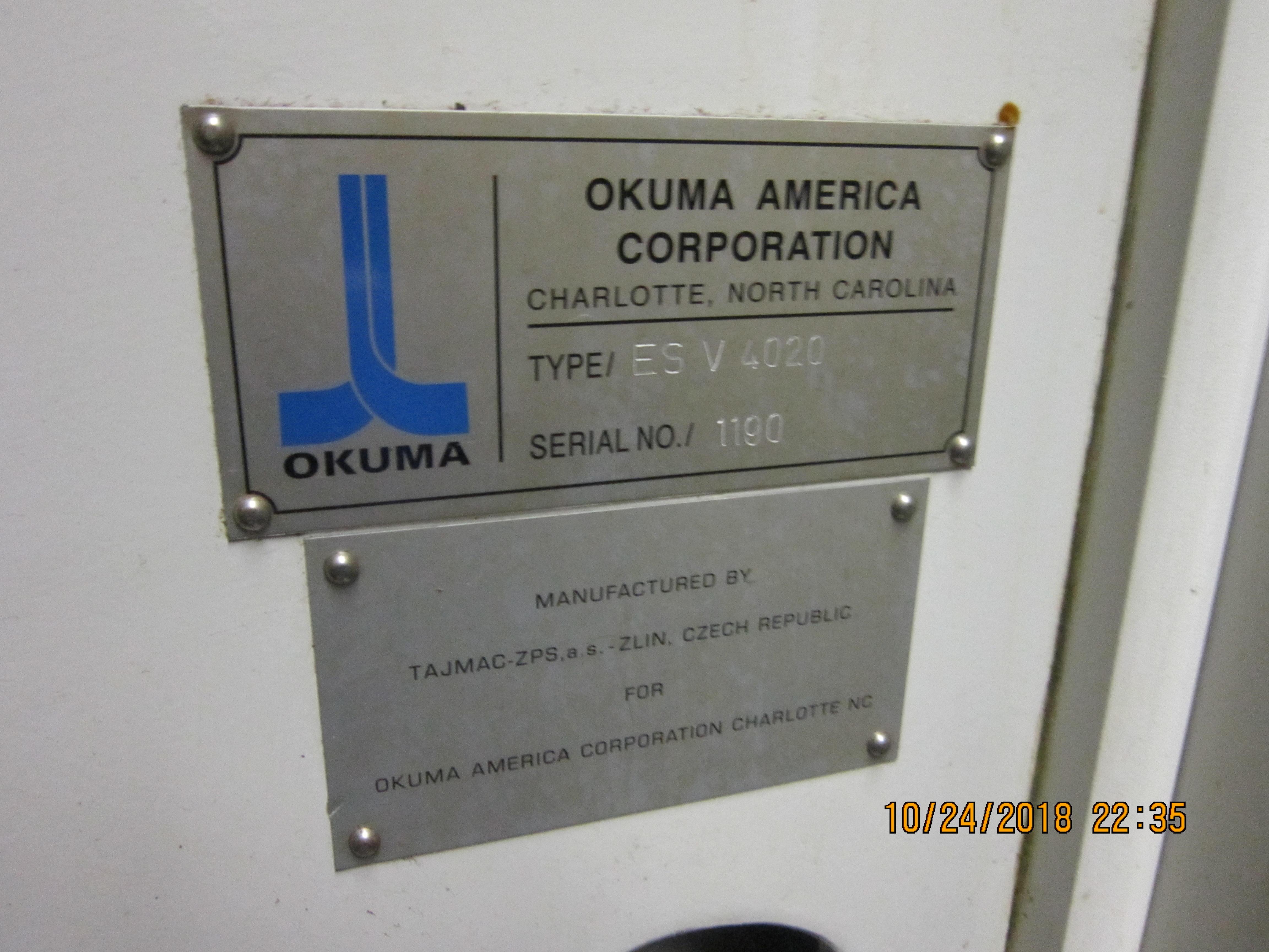 2004 OKUMA ES-V4020 Vertical Machining Center 2004 OKUMA ES-V4020