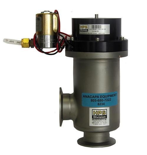 Used MKS HPS 153-0050K, Angular Vacuum Valve NW50,120V/50-60 W/Solenoid Valve (8234)W
