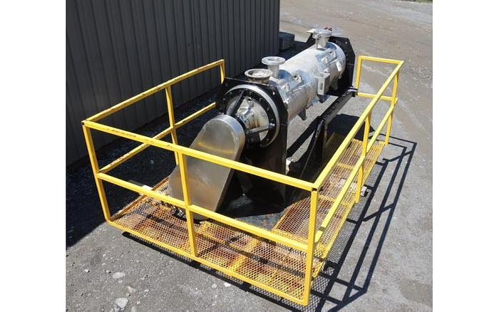 USED PLOW BLENDER, 15 CUBIC FEET, STAINLESS STEEL, JACKETED