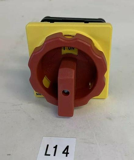 New No Box Siemens Red/Yellow Off/On Rotary Handle Part #?? Fast Shipping