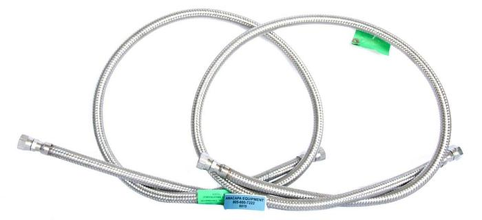 Hose Master 6' Flexible Corrugated Hose, 316 Stainless Steel Lot of 2 New(8015)W