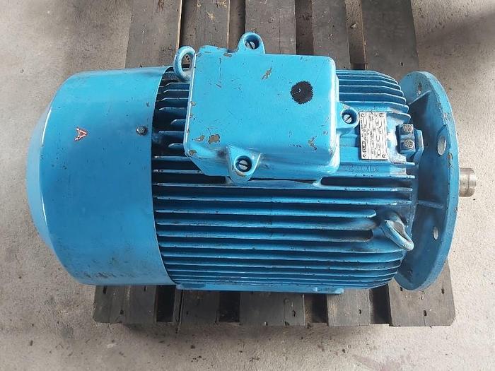 Gebraucht Elektromotor mit Flansch und Fuss, 30 KW, 360/660 V, 1465 rpm, 50Hz, Elin,  gebraucht