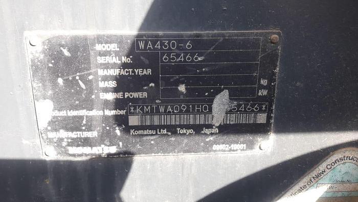 2011 KOMATSU WA430-6