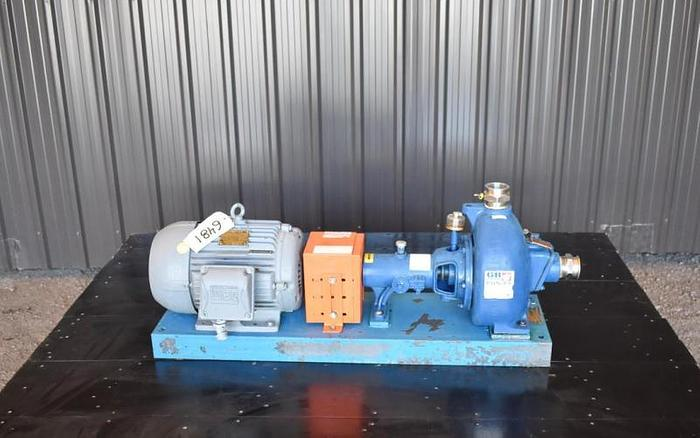 """USED GORMAN RUPP CENTRIFUGAL PUMP, 2"""" X 2"""" INLET & OUTLET, CAST IRON, SELF-PRIMING"""
