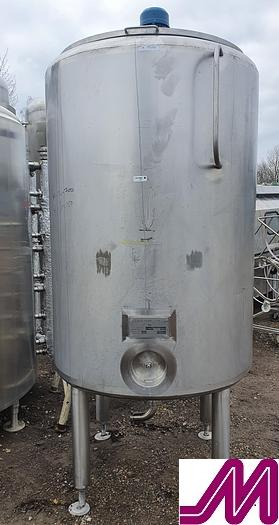 Used 2000 Kells 1,100 Litre Stainless Steel Mix Tank