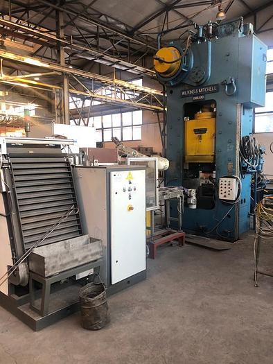 Wilkins & Mitchell E30-HB1-10, 250 ton capacity hot brass forging press