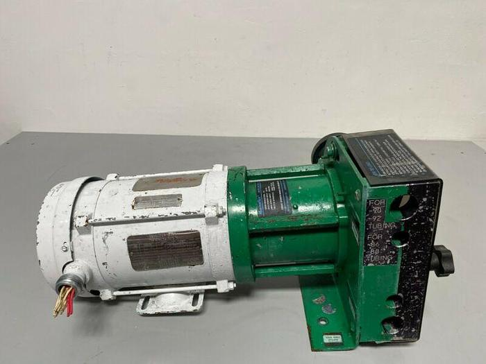Used Masterflex 7585-50 Peristaltic Pump w/ Reliance Electric P56X40745 1/2 HP Motor