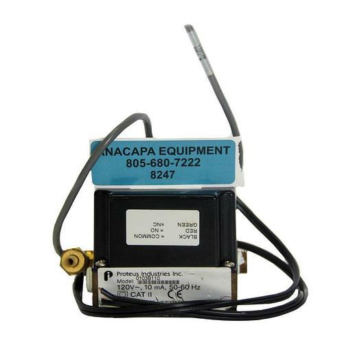 Used Proteus Industries 0103B110 Flow Switch, 120V ~, 10 mA, 50-60Hz (8247)W