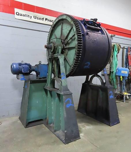 """Used 54"""" x 42"""" STEEL BALL MILL - JACKETED - 15 HP (#9981)"""
