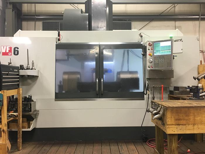 2014 Haas VF6/50 Vertical Machining Center with Trunnion Rotary Table