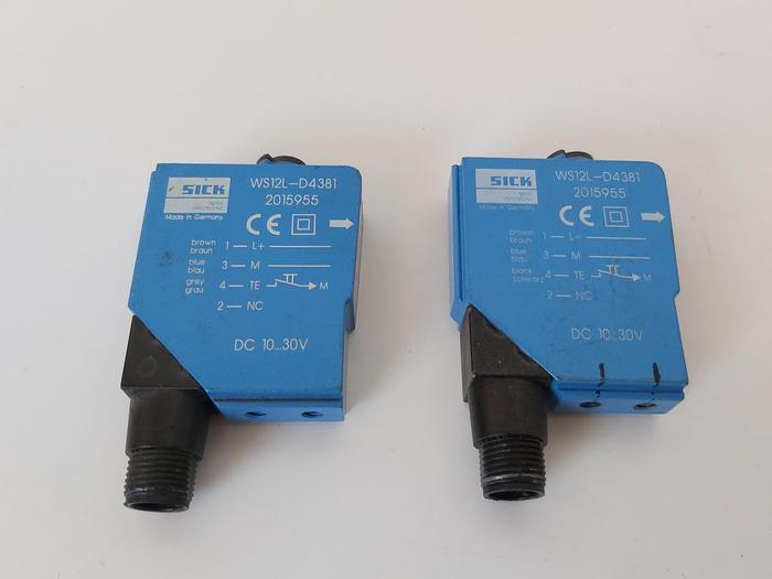 Gebraucht 2 Stück Laser Lichtschranke - Sender, WS12L-D4381, Sick gebraucht