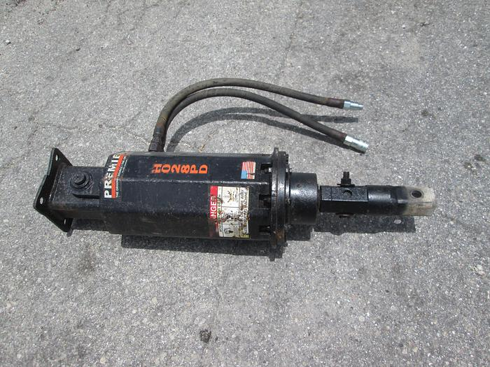 "Used Premier Hydraulic Drill Unit With 2'' Hex And 2"" Square Adapter"