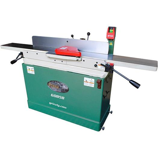 """Grizzly G0858 - 8"""" x 76"""" Parallelogram Jointer with Spiral Cutterhead & Mobile B"""