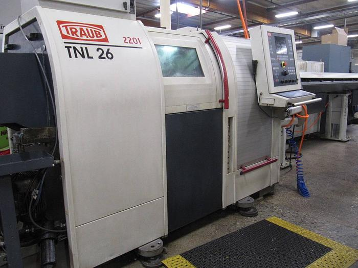 Used 2001 TRAUB TNL-26 CNC SWISS TURN LATHE / TURN CENTER w/ LIVE TOOLING
