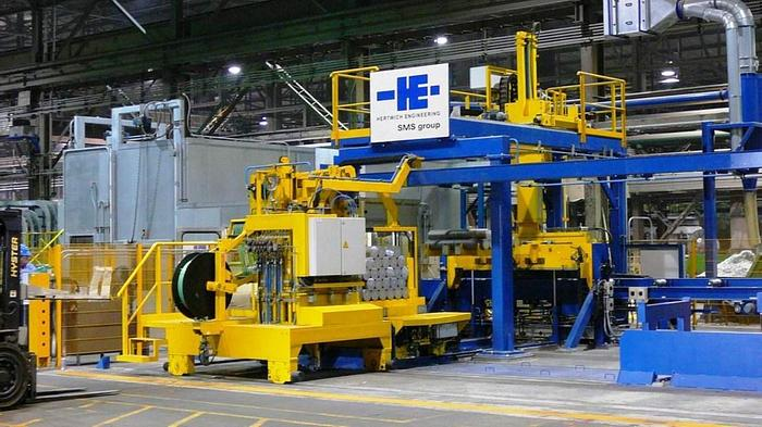 Used Hertwich Aluminum Extrusion Log Sawing System: EX-475